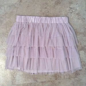Blush tulle layered skirt